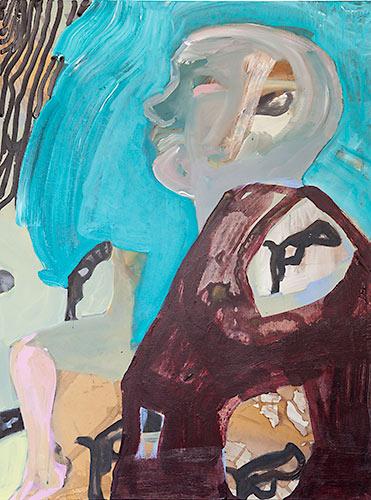 The Cook, acrylic on canvas, 100cm X 120cm, 2012